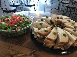 Sandwich Tray with a Salad Tray